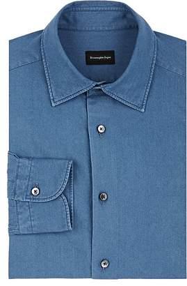 Ermenegildo Zegna Men's Cotton Chambray Dress Shirt