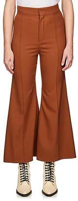 Chloé Women's Flared Stretch-Virgin Wool Trousers