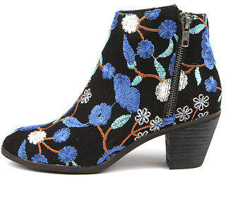 I Love Billy New Nolo Black&Blue Flow Womens Shoes Casual Boots Ankle