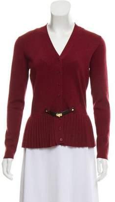 Paule Ka Accented Wool Cardigan