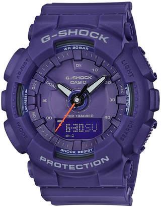 G-Shock Women's Analog-Digital Purple Resin Strap Step Tracker Watch 49.5mm