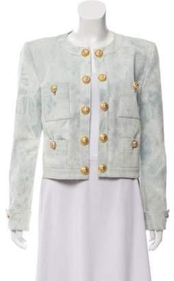 Balmain Structured Denim Jacket w/ Tags