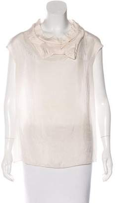 Marni Bow-Accented Sleeveless Top