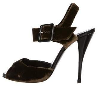 Pierre Hardy Velvet Ankle-Strap Sandals