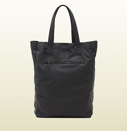 Gucci Black Leather Tote From Viaggio Collection