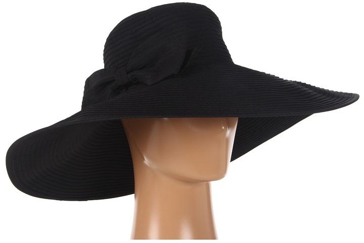 San Diego Hat Company Ribbon XL Brim Floppy (Black) - Hats