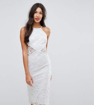 Asos Tall TALL Sheer And Solid Lace Midi Pencil Dress