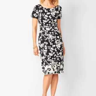 Talbots Floral Bateau-Neck Sheath Dress