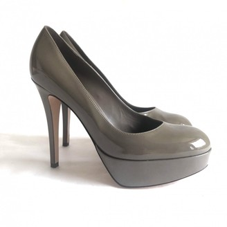Gianvito Rossi Khaki Patent leather Heels