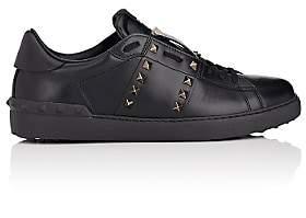 "Valentino Men's ""Rockstud Untitled"" Leather Sneakers - Black"