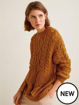 MANGO Tassel Knitted Jumper - Ginger