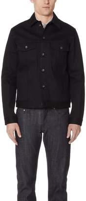 Naked & Famous Denim Jacket - Solid Black Selvedge