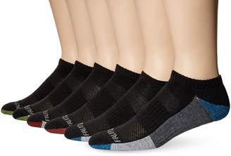 Fruit of the Loom Men's 6 Pack Sport Half Cushion No Show Socks
