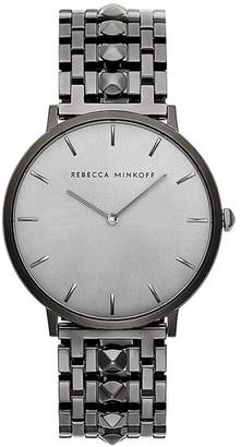 Rebecca Minkoff Major Grey Ion Plated Tone Bracelet Watch, 40Mm