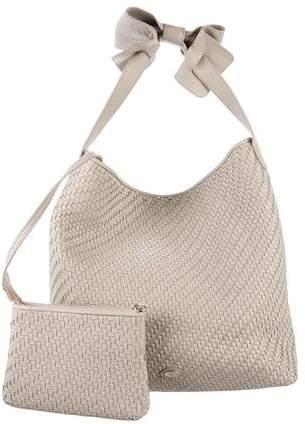 Armani Collezioni Woven Leather Hobo Bag
