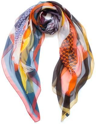 Arlette Ess Koi II Oversized Silk Chiffon Scarf
