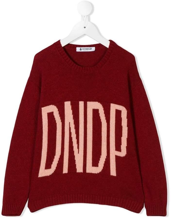 Dondup Kids jacquard logo knit sweater