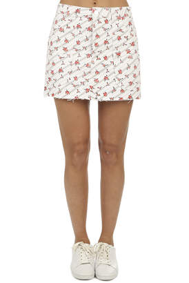 RE/DONE The Rose Print Cargo Mini Skirt