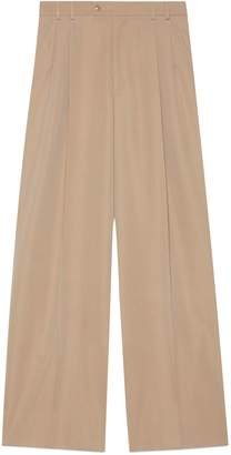 Gucci Wool satin wide-leg pant