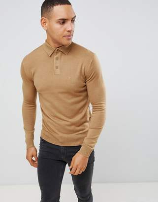 French Connection Fine Gauge Long Sleeve Polo
