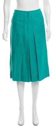 Celine Pleated Knee-Length Skirt