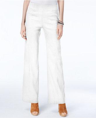 Inc International Concepts Curvy Linen-Blend Wide-Leg Pants, Created for Macy's $69.50 thestylecure.com