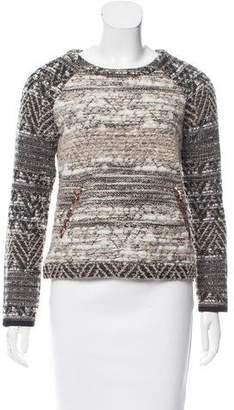 Gryphon Wool-Blend Knit Sweater