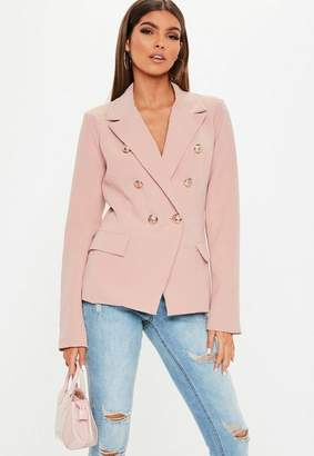 Missguided Pink Military Blazer