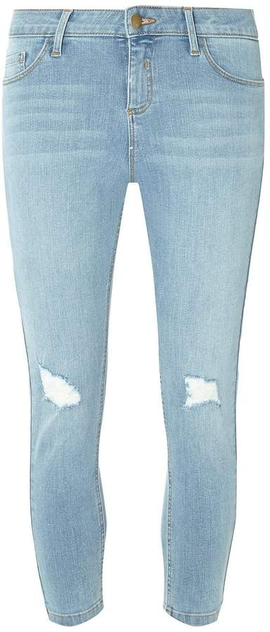 Dorothy Perkins Blue Petite Darcy Abrasion Ankle Grazer Jeans