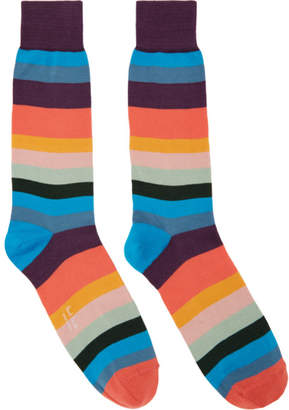 Paul Smith Multicolor Artist Stripe Socks