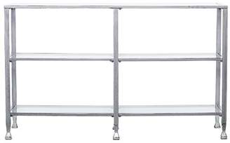 Southern Enterprises Jaymes 3 Tier Glass Console Media Table