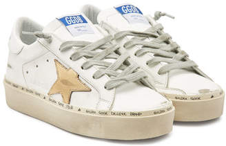 Golden Goose Hi Star Leather Platform Sneakers