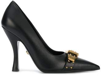 Versace buckled front pumps