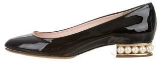 Nicholas Kirkwood Casati Leather Square-Toe Loafers