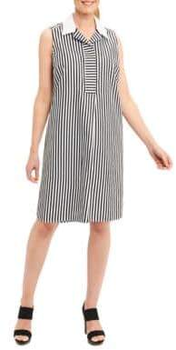 Foxcroft Cotton Striped Shirt Dress