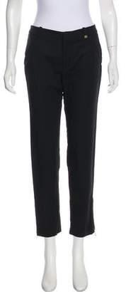 Calvin Klein Zipper-Accented Mid-Rise Pants