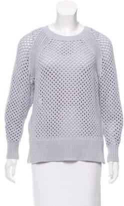 Rebecca Taylor Open Knit Crew Neck Sweater