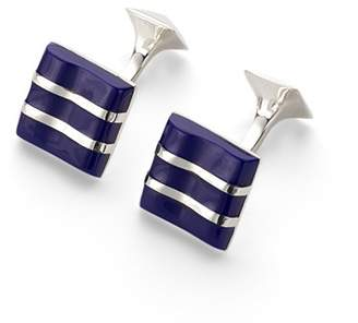 Aspinal of London Wave Sterling Silver & Mother of Pearl Cufflinks