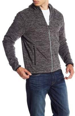 Original Penguin Zip Front Heathered Knit Jacket