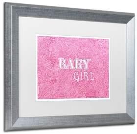 """Trademark Global Viz Art Ink 'Baby Girl' Matted Framed Art, 16"""" x 20"""""""