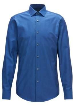 BOSS Hugo Birdseye Cotton Dress Shirt, Slim Fit Jenno 18 Dark Blue