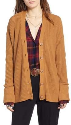 Treasure & Bond Ribbed Cardigan Sweater