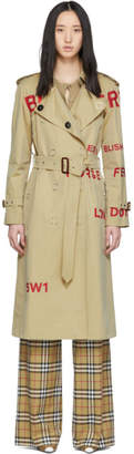 Burberry Beige Horseferry Trench Coat