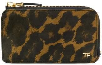 Tom Ford leopard zip wallet