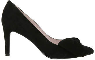 Basque Bow Black Suede Pump