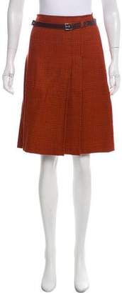 Philosophy di Alberta Ferretti Virgin Wool Houndstooth Skirt