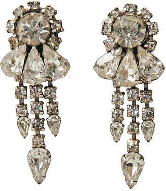 One Kings Lane Vintage Rhinestone Dangle Earrings - Maeven