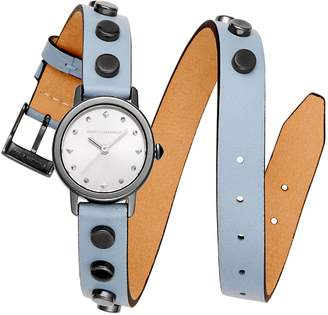 Rebecca Minkoff BFFLS Double Wrap Leather Strap Watch, 25mm