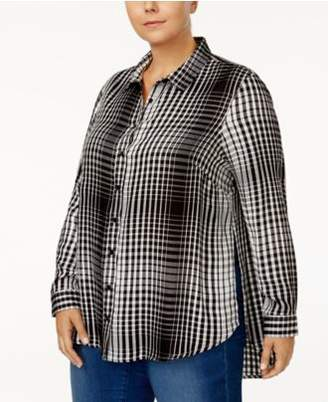 Melissa McCarthy Trendy Plus Size Split-Side Shirt