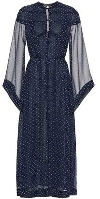 ALEXACHUNG Polka-dot dress